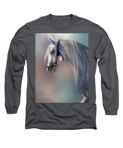 Arabian Grey Long Sleeve T-Shirt by Kari Nanstad