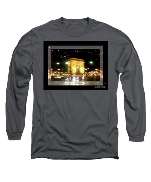 Arc De Triomphe By Bus Tour Greeting Card Poster V1 Long Sleeve T-Shirt by Felipe Adan Lerma