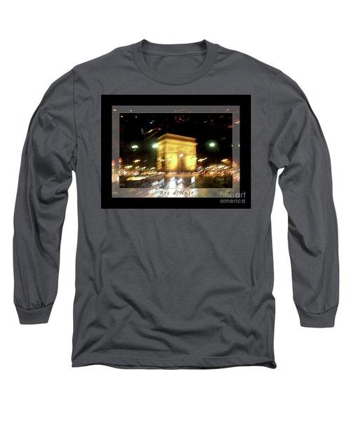 Arc De Triomphe By Bus Tour Greeting Card Poster V1 Long Sleeve T-Shirt by Felipe Adan Lerma