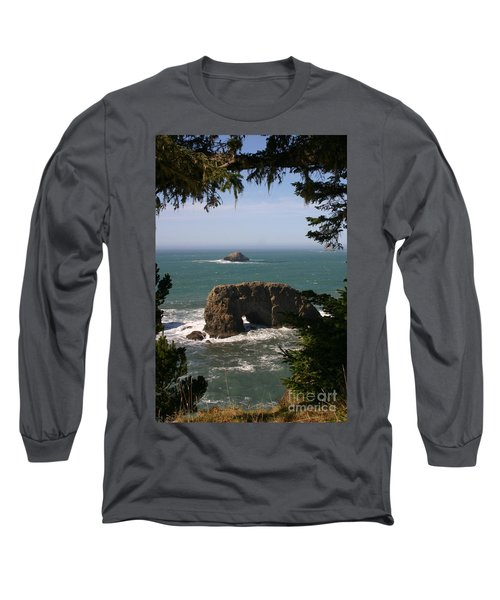 Arch Rock View Long Sleeve T-Shirt by Marie Neder