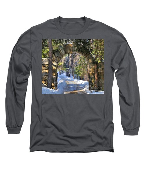 Long Sleeve T-Shirt featuring the photograph Archway To Winter by Debbie Stahre
