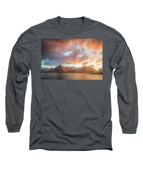 Long Sleeve T-Shirt featuring the photograph Arctic Susnset by Maciej Markiewicz