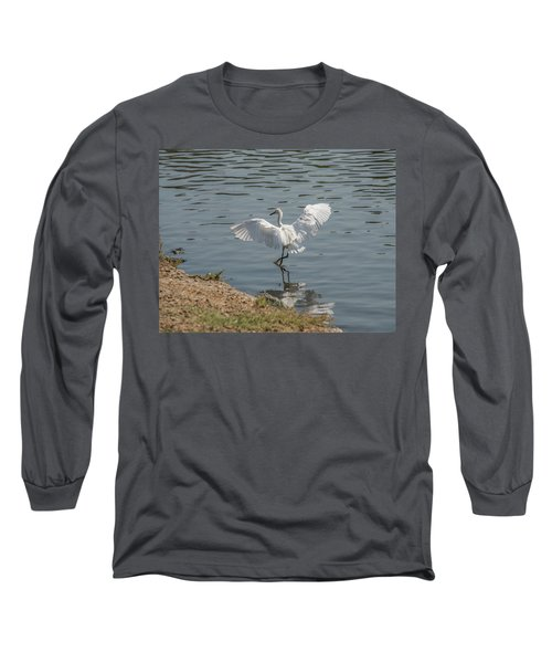 Are You Ready To Dance - Great Egret In Mtn View Ca Long Sleeve T-Shirt