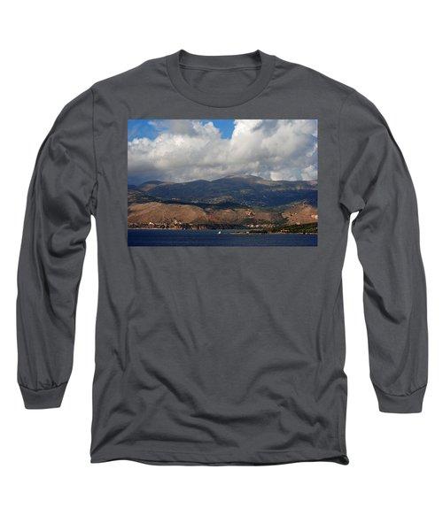 Argostoli Mountains Long Sleeve T-Shirt by Robert Moss