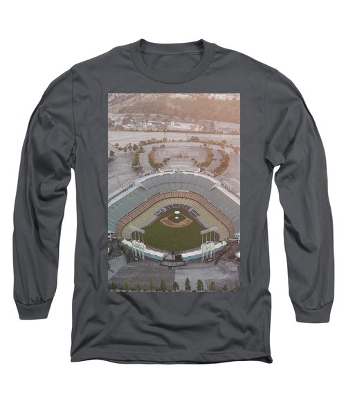 Ariel Image Of Dodger Stadium Long Sleeve T-Shirt