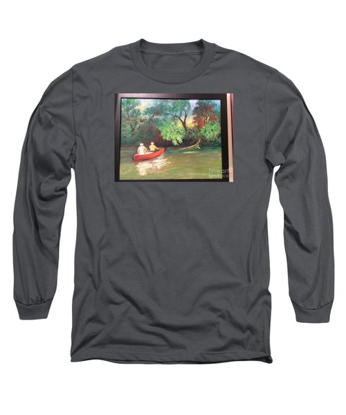 Arkansas River Float Long Sleeve T-Shirt by Marcia Dutton
