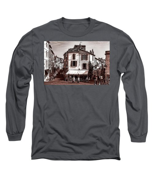 Arles, France, In Sepia Long Sleeve T-Shirt