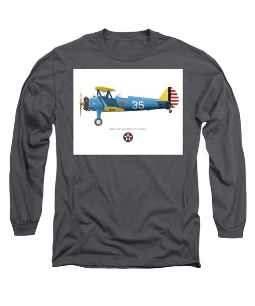 Army Air Corps Pt-17 Long Sleeve T-Shirt