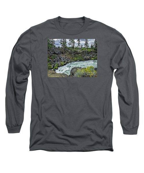 Long Sleeve T-Shirt featuring the photograph Around The Bend by Nancy Marie Ricketts