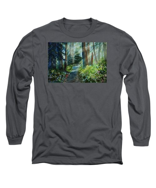 Around The Path Long Sleeve T-Shirt by Kerri Ligatich