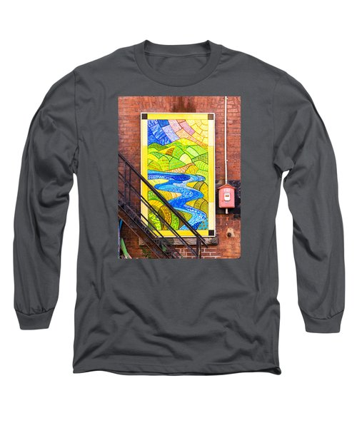 Long Sleeve T-Shirt featuring the photograph Art And The Fire Escape by Tom Singleton