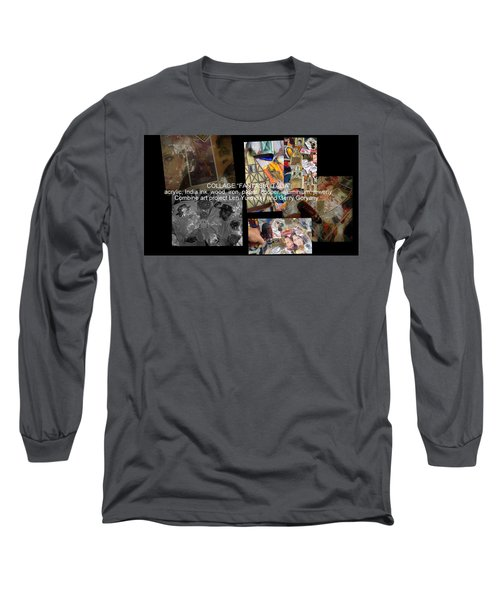 art collage Italy Long Sleeve T-Shirt