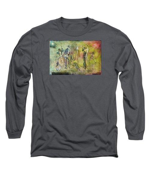 Art Deco Dancing Long Sleeve T-Shirt by Bellesouth Studio