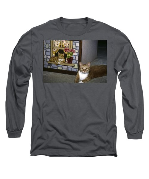 Long Sleeve T-Shirt featuring the photograph Art Imitates Life by Sally Weigand