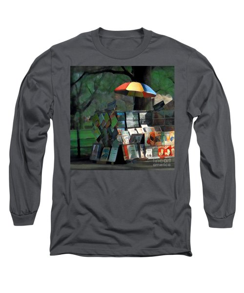 Art In The Park - Central Park New York Long Sleeve T-Shirt by Miriam Danar