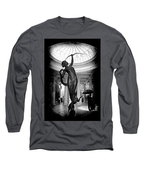Long Sleeve T-Shirt featuring the photograph Artemis At Huntington Library by Lori Seaman