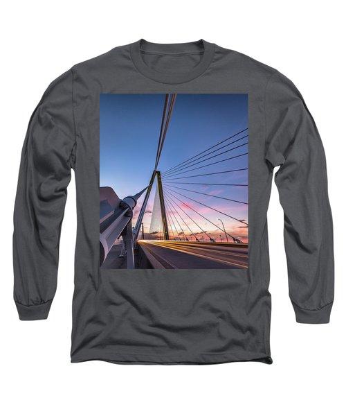 Arthur Ravenel Jr. Bridge Light Trails Long Sleeve T-Shirt