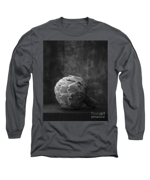Artichoke Black And White Still Life Long Sleeve T-Shirt