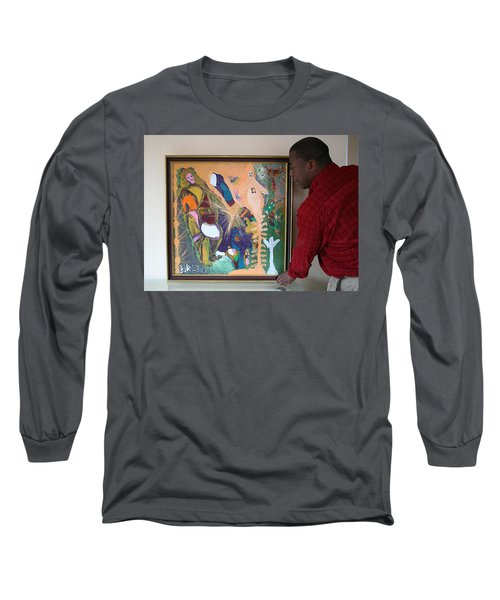 Artist Darrell Black With Dominions Creation Of A New Millennium Long Sleeve T-Shirt by Darrell Black