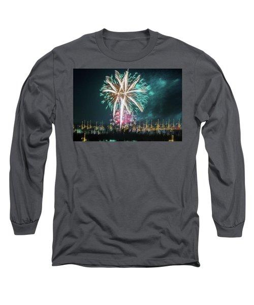 Artistic Fireworks Long Sleeve T-Shirt