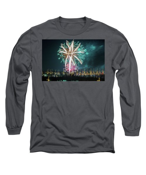 Artistic Fireworks Long Sleeve T-Shirt