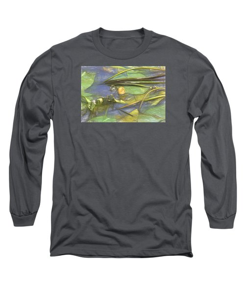 Long Sleeve T-Shirt featuring the photograph Artistic Yellow Waterlilly 2015 by Leif Sohlman