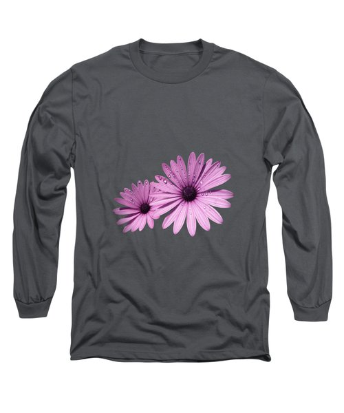 Long Sleeve T-Shirt featuring the photograph Dew Drops On Daisies by Valerie Anne Kelly