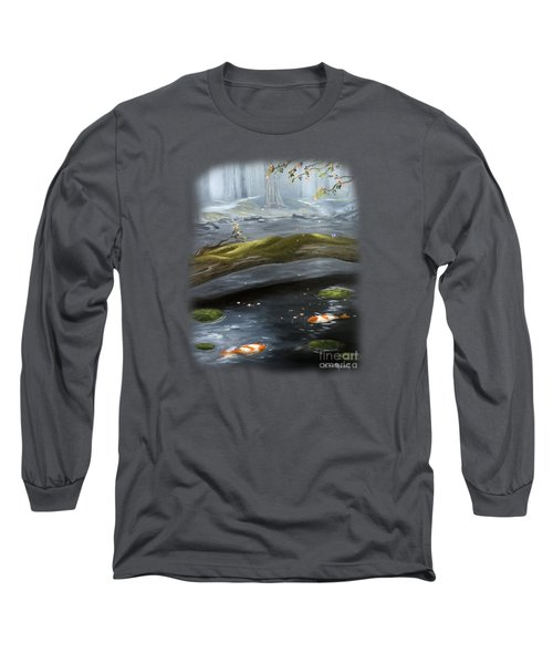 The Wishing Pond  Long Sleeve T-Shirt by Susan  Rossell