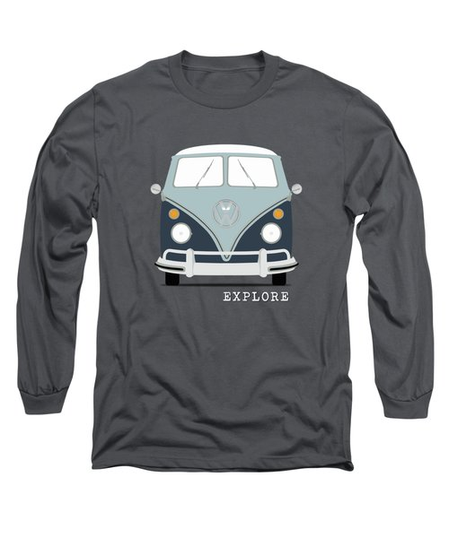 Vw Bus Blue Long Sleeve T-Shirt