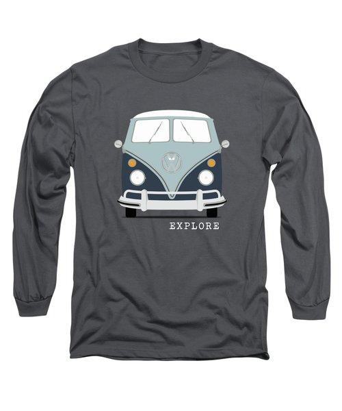 Vw Bus Blue Long Sleeve T-Shirt