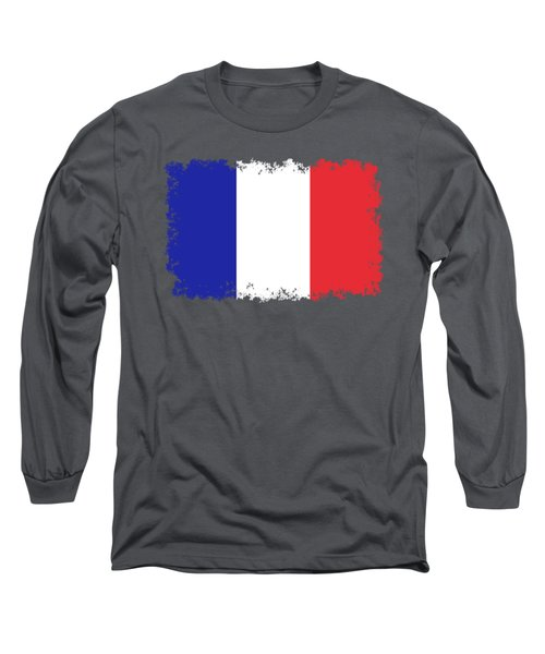 Long Sleeve T-Shirt featuring the digital art Flag Of France High Quality Authentic Image by Bruce Stanfield