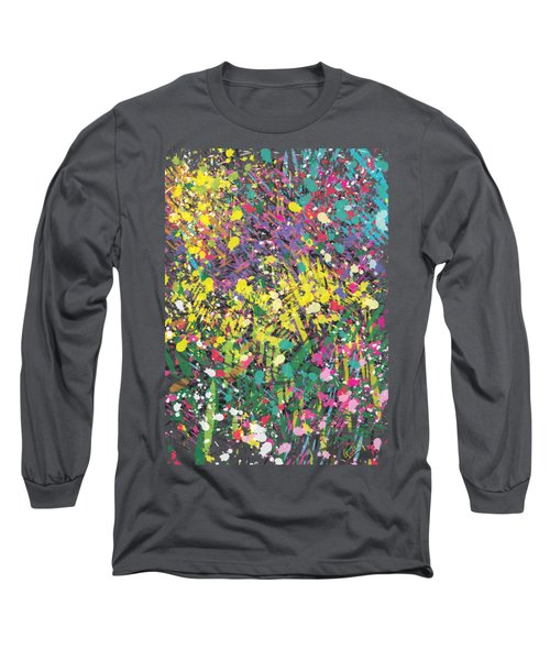 Flower Bed Abstract Long Sleeve T-Shirt