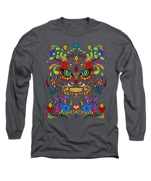 Dia De Los Gatos  Long Sleeve T-Shirt
