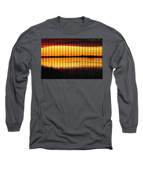Magnificent Sunrise Swim Long Sleeve T-Shirt by Bill Kesler