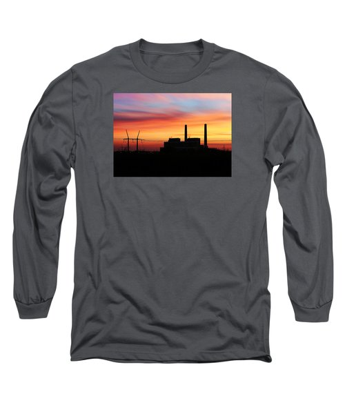 A Gentleman Sunrise Long Sleeve T-Shirt by Bill Kesler