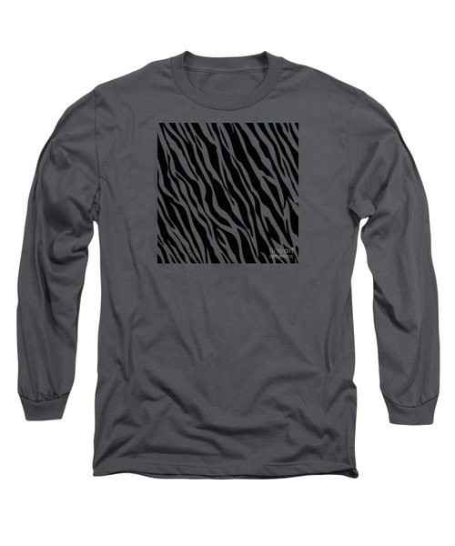 Tiger On White Long Sleeve T-Shirt by Mark Rogan