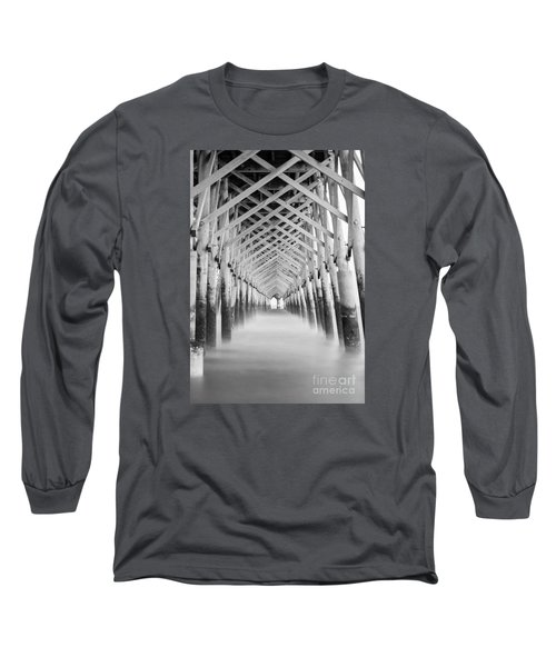 As The Water Fades Grayscale Long Sleeve T-Shirt