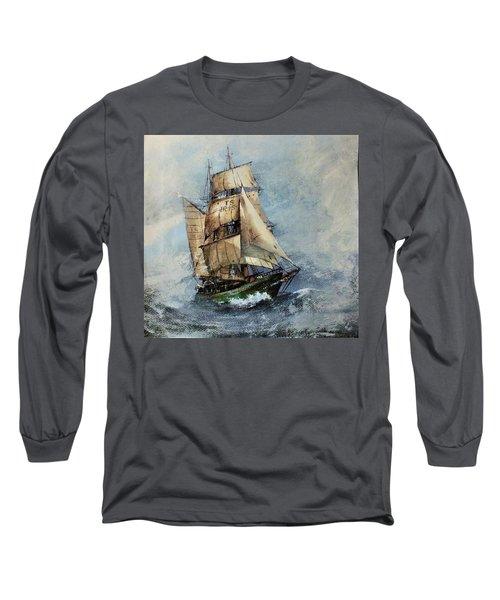 F 827 Asgard Storm Off Galway. Long Sleeve T-Shirt
