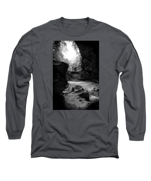 Ash Cave Hocking Hills Long Sleeve T-Shirt by Alan Raasch
