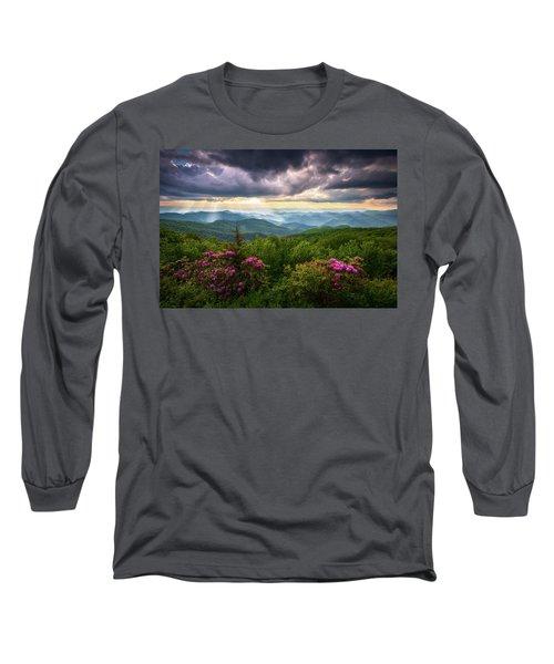 Asheville Nc Blue Ridge Parkway Scenic Landscape Photography Long Sleeve T-Shirt
