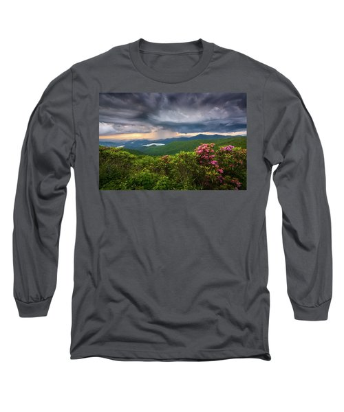 Asheville North Carolina Blue Ridge Parkway Thunderstorm Scenic Mountains Landscape Photography Long Sleeve T-Shirt