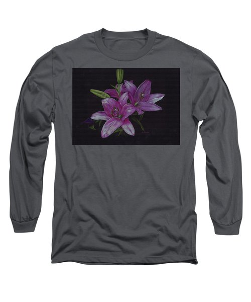 Asian Lillies Long Sleeve T-Shirt