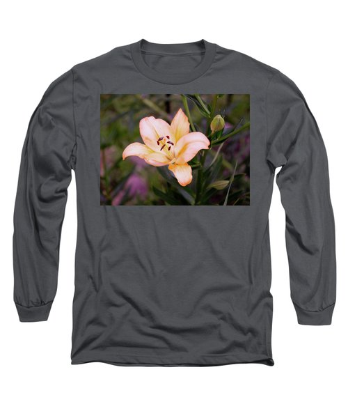 Asiatic Lilly Long Sleeve T-Shirt by B Wayne Mullins