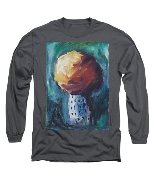 Long Sleeve T-Shirt featuring the painting Aspen Bolitas Mushroom by Yulia Kazansky