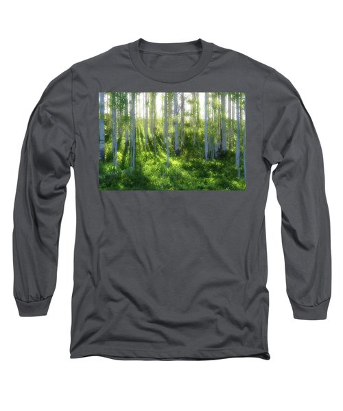 Long Sleeve T-Shirt featuring the photograph Aspen Morning 3 by Marie Leslie
