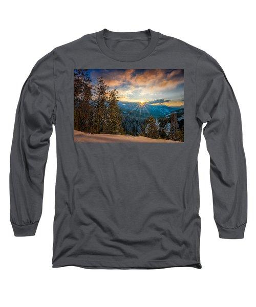 Aspens Sunset After Snowfall Long Sleeve T-Shirt