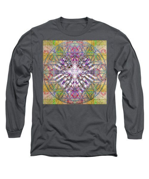 Assent From The Womb In The Flower Tree Of Life Long Sleeve T-Shirt by Christopher Pringer