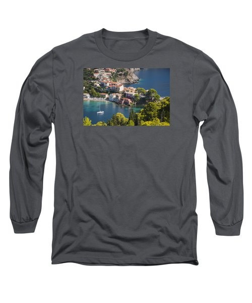 Long Sleeve T-Shirt featuring the photograph Assos In Greece by Rob Hemphill