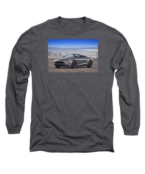 Long Sleeve T-Shirt featuring the photograph Aston Vanquish Convertible by ItzKirb Photography