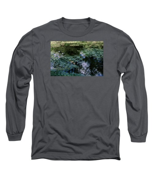 Long Sleeve T-Shirt featuring the photograph At Claude Monet's Water Garden 10 by Dubi Roman